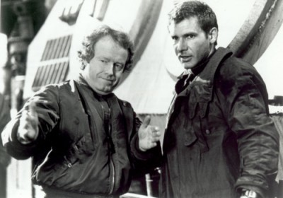 Ridley Scott and Harrison Ford on the set of Blade Runner