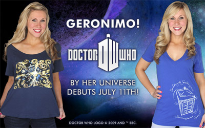 Her Universe Doctor Who Tees