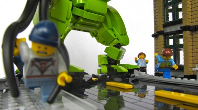 Lego Cthulhu Throws a Block Party