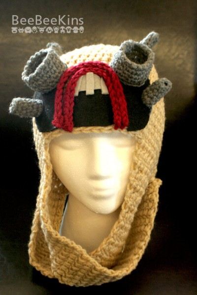 A Knitted Tusken Raider Hat from Etsy