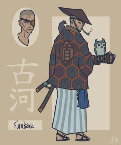 sengoku_avengers__nick_fury_by_genesischant-d5ck0c2