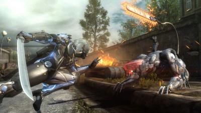 Raiden vs. Blade Wolf