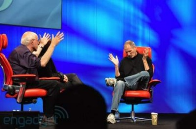Steve Jobs at All Things D not talking