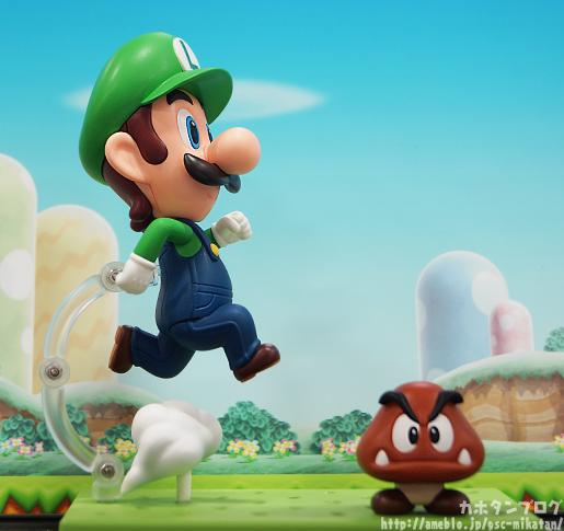 Luigi Nendoroid and Goomba
