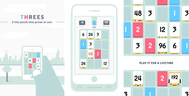 Threes. iOS Gaming.